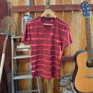 Custom Doublju Bleached Striped T-shirt.